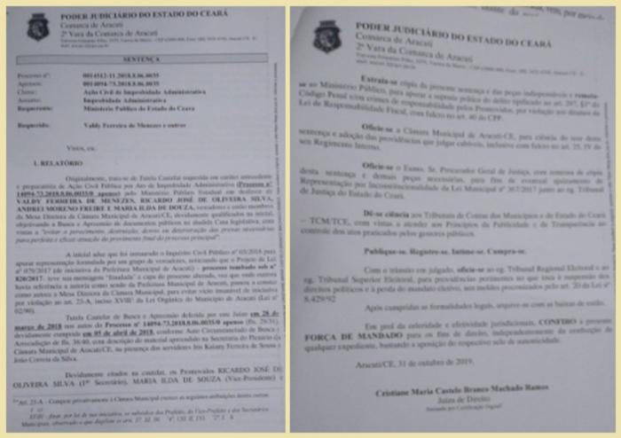 Juíza de Aracati cancela reajuste salarial de secretários e multa vereadores em R$ 1,9 milhão
