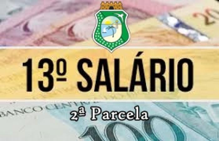Governo do Ceará paga segunda parcela do 13º de servidor no dia 20 de dezembro