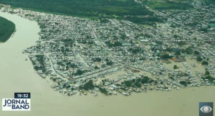 Cheias de rios no Acre já atingem 130 mil pessoas em dez cidades